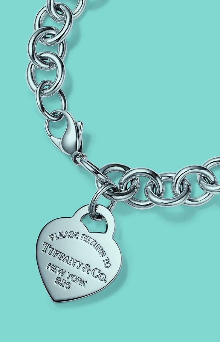 Return to Tiffany® heart tag charm bracelet in sterling silver.