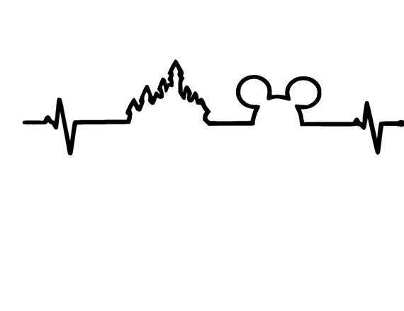 Disney Heartbeat Mickey Castle Vinyl Car Decal por MouseMagicVinyl
