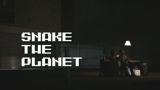 """""""Snake the Planet!"""" by MPU takes the classic mobile phone game 'Snake' and adopts it for the urban canvas."""