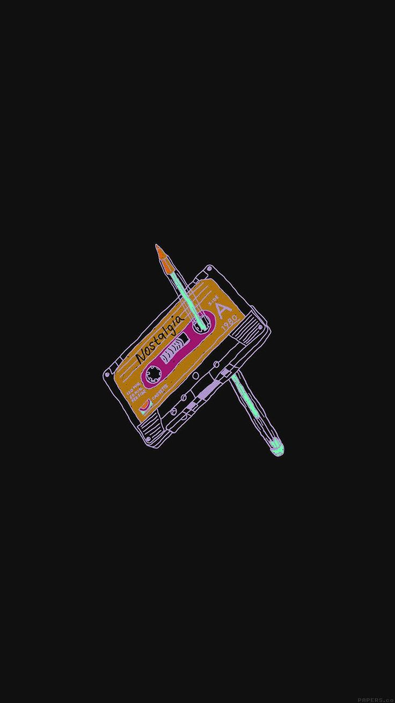 ah99-cassette-tape-old-illust-minimal-dark   Wallpapers ...