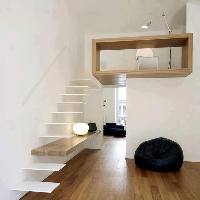 Studioata - Italy. Uma escada...um degrau...uma prateleira