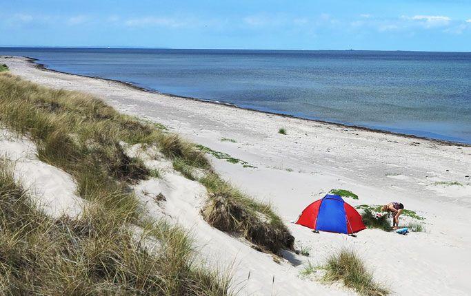 Långa stränder med få besökare finns det på Läsö, Danmark.