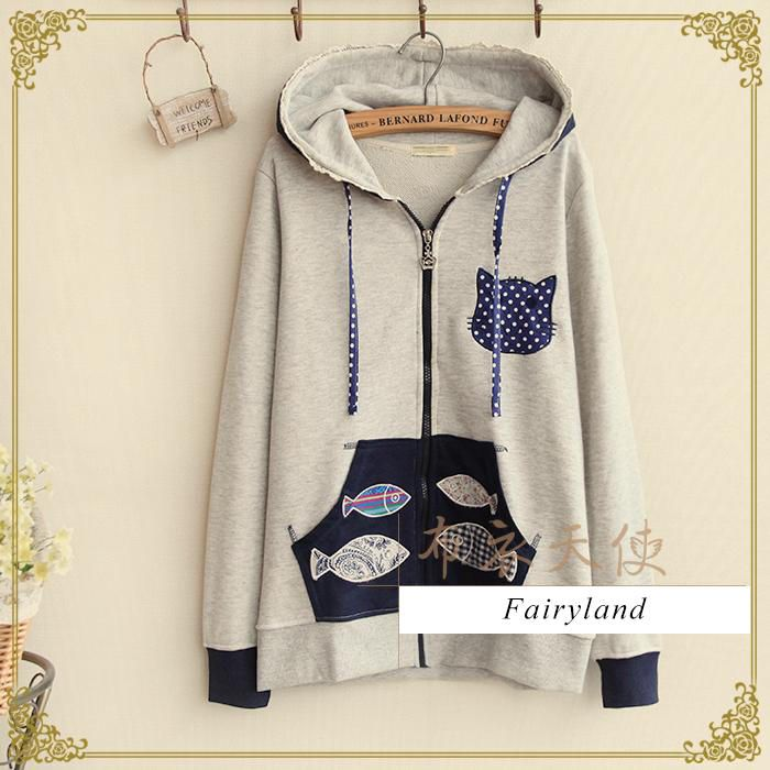 Appliqué Hooded Zip Jacket - Fairyland | YESSTYLE