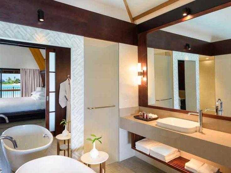 Fresh, modern, clean bathrooms at the Marriott Resort Momi Bay