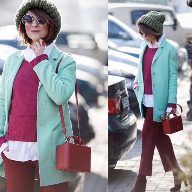 WEBSTA @ modniy_metr - Цветовой микс в исполнении  @ellena_galant_girl великолепен!✔️пальто сшито на заказ✔️джемпер #MaxMara✔️брюки #zara✔️шапка @primavera_g✔️сумка #MarkCross✔️обувь #StuartWeitzman................#modniy_metr #модныйблогер #модныелюди #мода #стиль #образдня #fashion #instafashion #instastyle #streetstyle #streetfashion #instagood #photooftheday #cute #beautiful #girl #follow #picoftheday #instamood #instalike #repost #style #pretty #awesome
