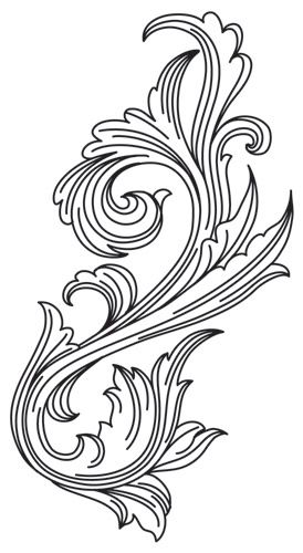 Miniature Menagerie Engraved Flourish design (UTH6543) from UrbanThreads.com