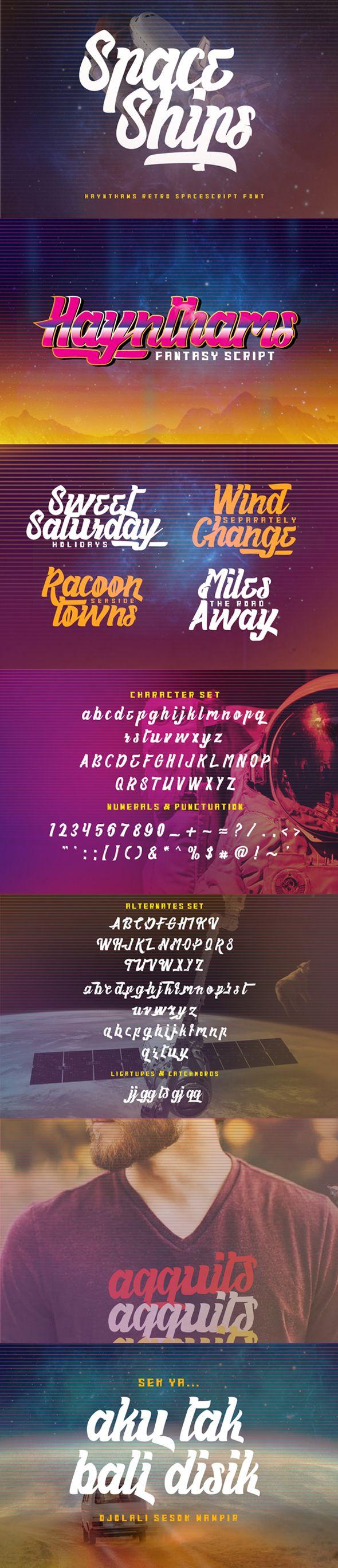 Haynthams Spacescript by Ovoz