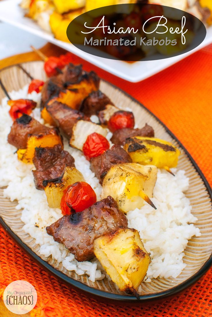 Asian beef, Kabobs and Beef on Pinterest