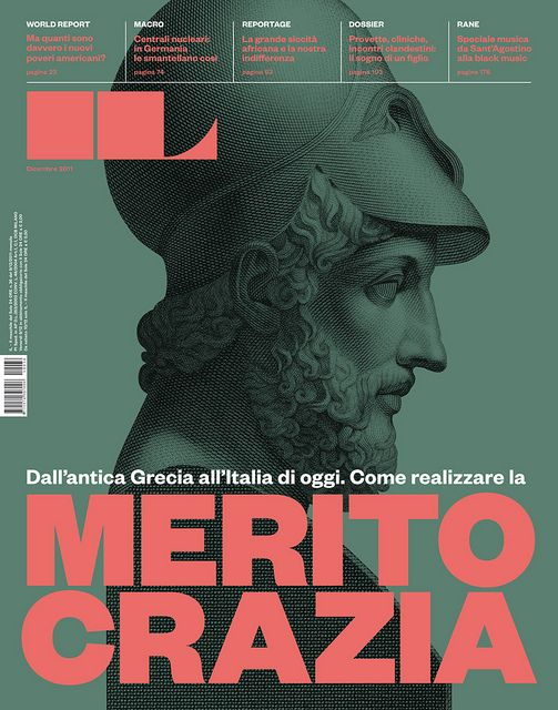 High contrast colors and layout for mag cover. Unique masthead.