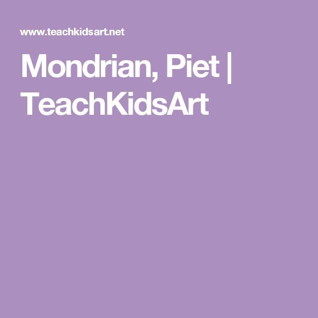 Mondrian, Piet   TeachKidsArt