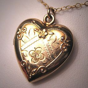 White and Gold Wedding Statement Necklace. Gold Heart Locket. I'll keep you in my little gold heart