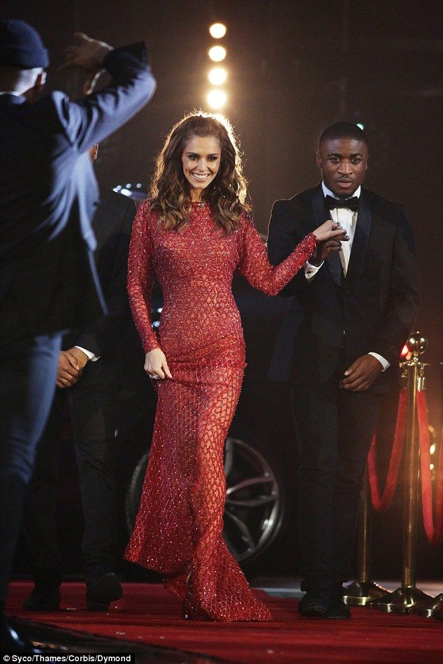 Cheryl Fernandez-Versini makes a very grand entrance as she struts onto the X Factor stage in glittering red gown...amid mounting speculation over her marriage | Daily Mail Online