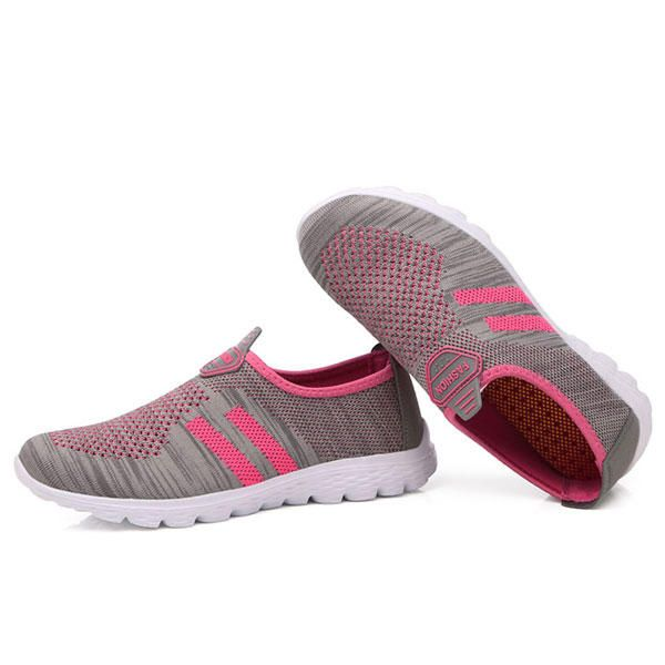 Women Breathable Mesh Health Sport Casual Slip On Flats - US$24.98