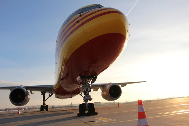 #Boeing 757 #DHL at #Airport #Gdansk (27/02/2013); photo: Karol Kędzierski