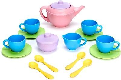 Dishes Tea Sets 19171: Tea Set Ages 2+, Green Toys, 17 Piece -> BUY IT NOW ONLY: $31.99 on eBay!