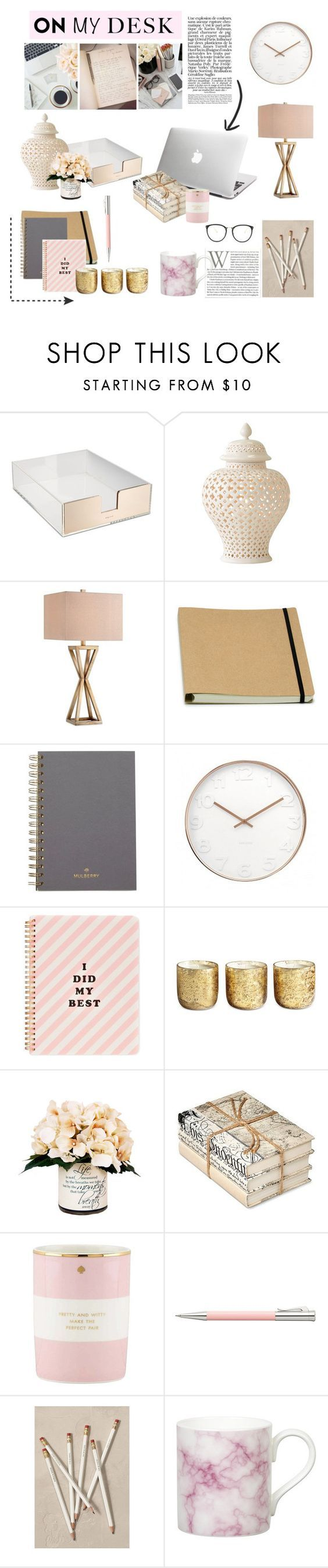 """""""17.08.2016"""" by desdeportugal on Polyvore featuring interior, interiors, interior design, home, home decor, interior decorating, GiGi New York, Kate Spade, Catalina and Mulberry"""