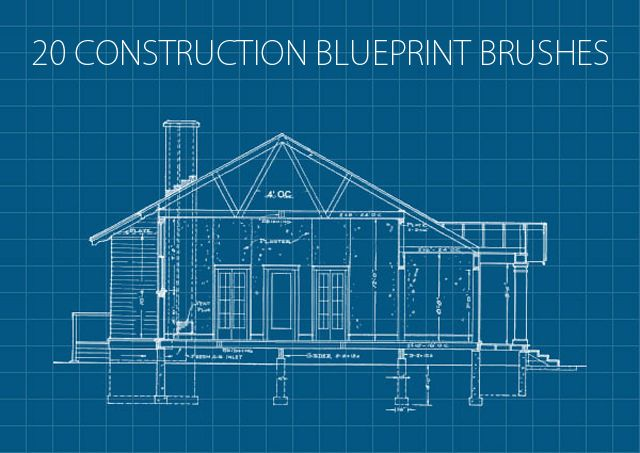 20 Construction Blueprint Brushes