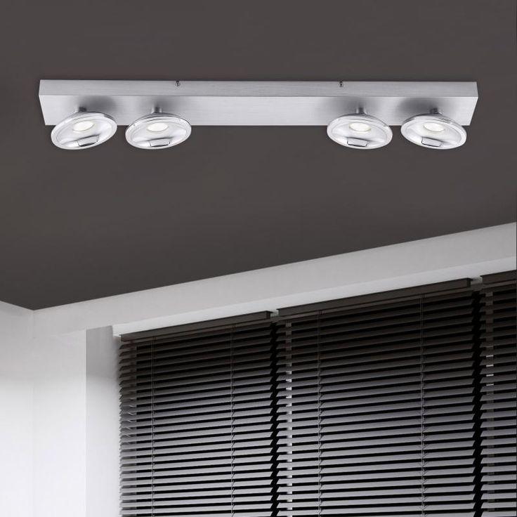 Paul Neuhaus Julian RGBW LED Deckenleuchte/Spot mit Dimmer, 4-flammig, länglich
