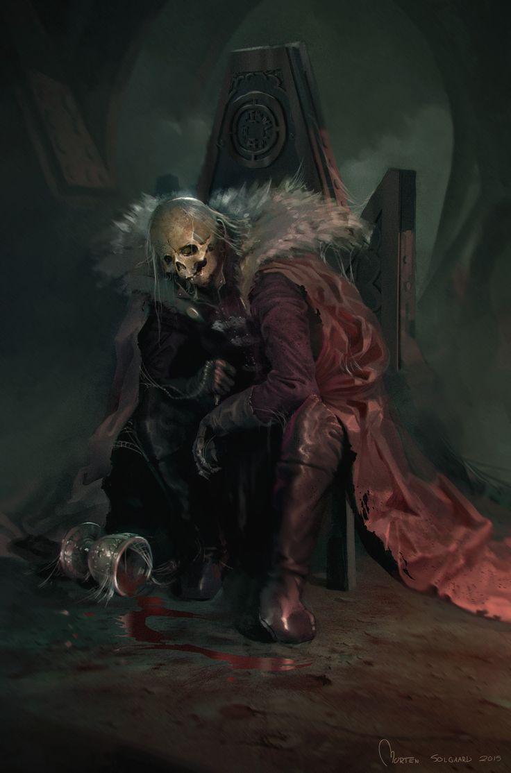 The awakening of a king, Morten Solgaard Pedersen on ArtStation at https://www.artstation.com/artwork/LandR
