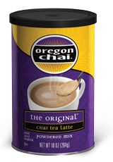 The Original™ Chai Tea Latte Mix - Canister by Oregon Chai | Good stuff (any way you measure it). Maybe you'd like your Me Time deliciously mellow after a long day. Or perhaps you'd prefer it extra sweet and spiced just because you feel like it. Either way—or, come to think of it, any way at all—Oregon Chai's new 10-oz. canister is just the thing. That's because with the new Oregon Chai 10-oz. canister, you can customize your Oregon Chai experience to your personal tastes. Go for one scoop…
