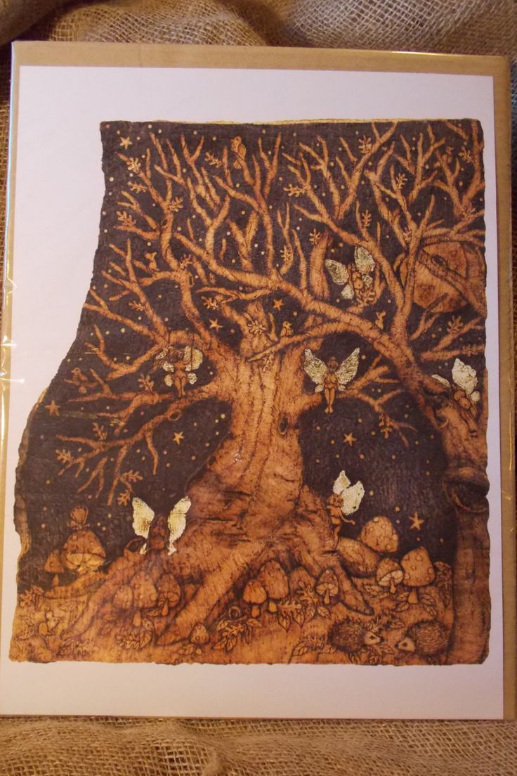 Fairy Tree Print from Original Artwork by salixpyrography on Etsy
