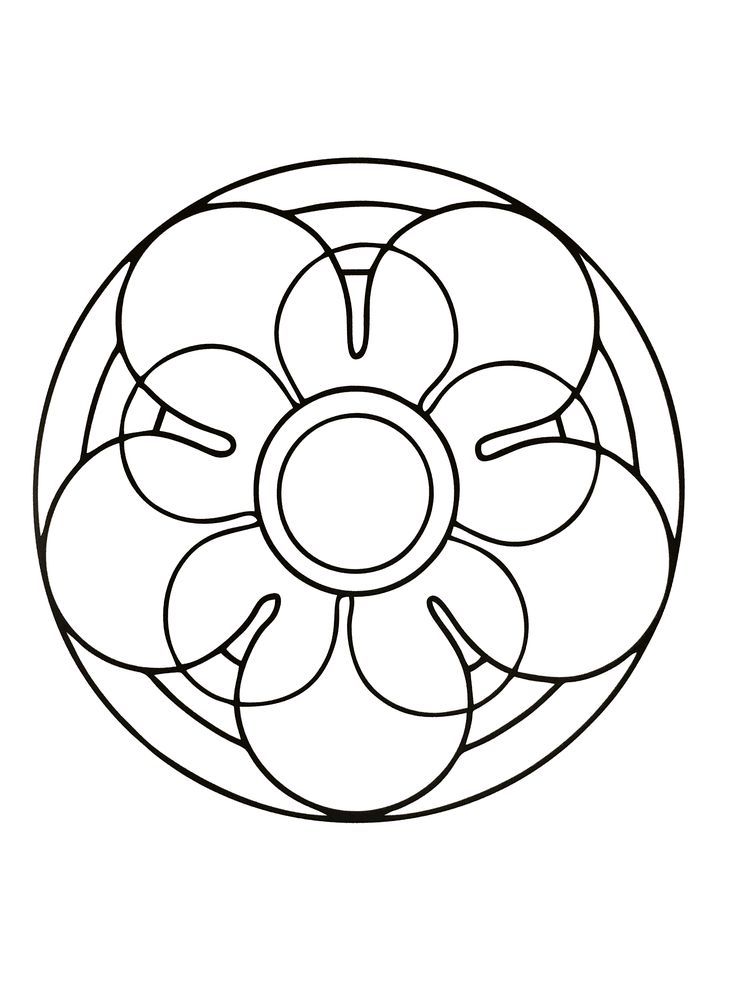 Here Are Our Simplest Mandala Coloring Pages Especially Dedicated To Children Simple Patterns And Subjects Your Kids Will Color Their Mandalas As