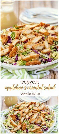 (lilluna.com) Copycat version of Applebee's Oriental Chicken Salad - one of the best salad recipes!