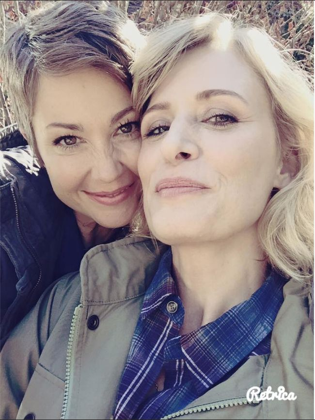 Actually Kim Rhodes   Also on set. I love this woman.
