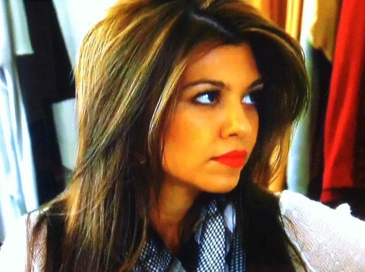 Kourtney Kardashian's highlights | Hair | Pinterest
