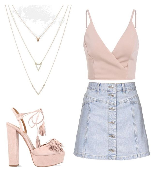 Untitled #46 by danifrancis on Polyvore featuring polyvore, fashion, style, Topshop, Aquazzura, ASOS and clothing