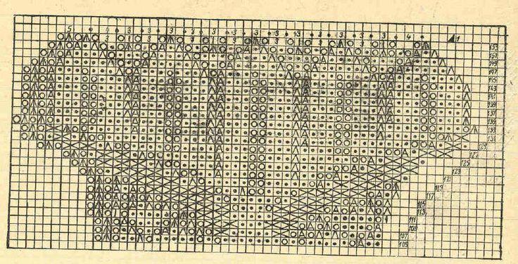Скатерть 4 - схема (продолжение). Э.Критеску 'Художественное вязание спицами'