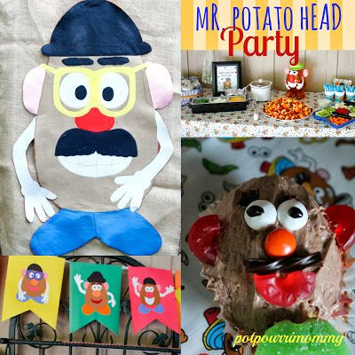 Potpourrimommy: Mr. Potato Head Birthday Party- decorations, food, and activities