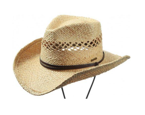 STETSON Chapeau de cowboy LARIMORE RAFFIA