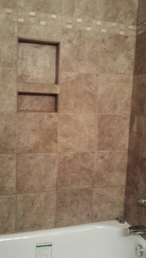 Bathtubshower built in shampoo and soap holder  DIY Projects in 2019  Shower shampoo holder