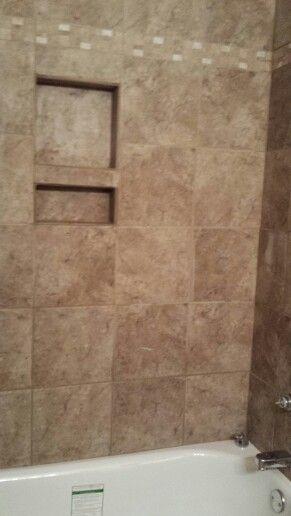 Bathtub Shower Built In Shampoo And Soap Holder Diy