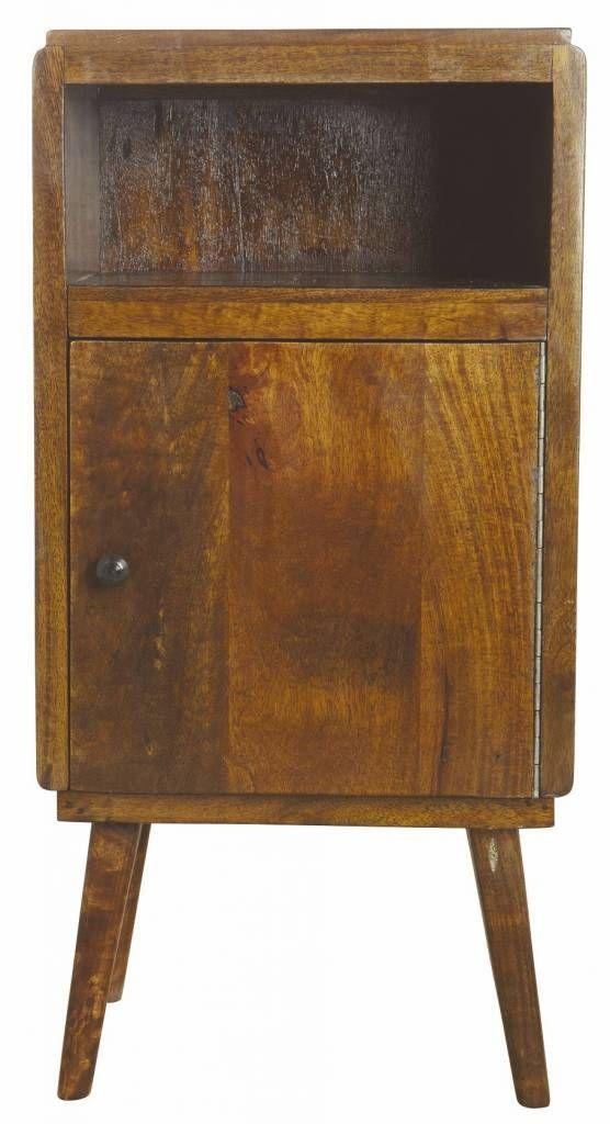Housedoctor Kastje 'Fifty' bruin mangohout 38x35x76 cm
