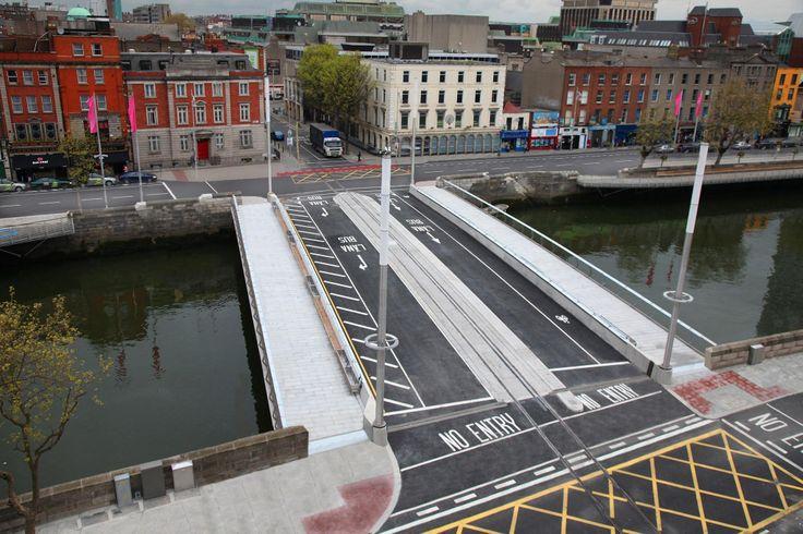 Dublin's Newest Bridge, The Rosie Hackett. Opened 5/21/2014