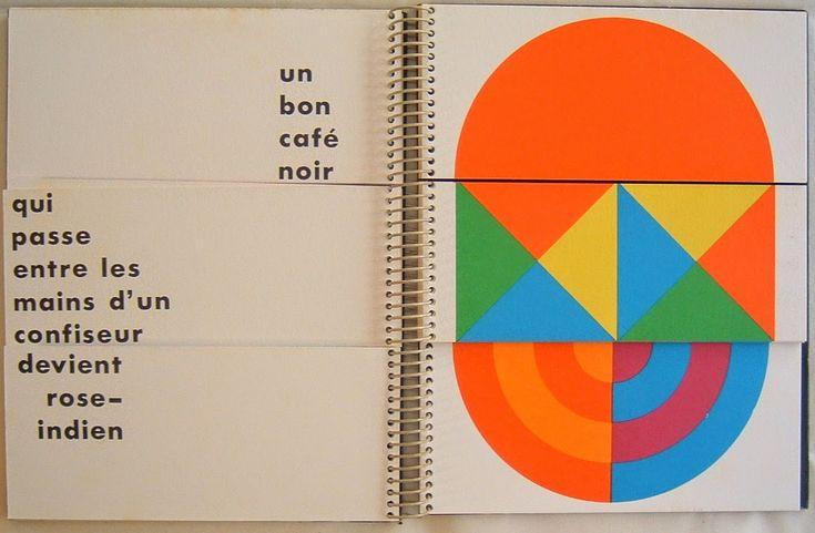 """Patrick Raynaud """"13824 jeux de couleurs de formes et de mots"""", 1972"""