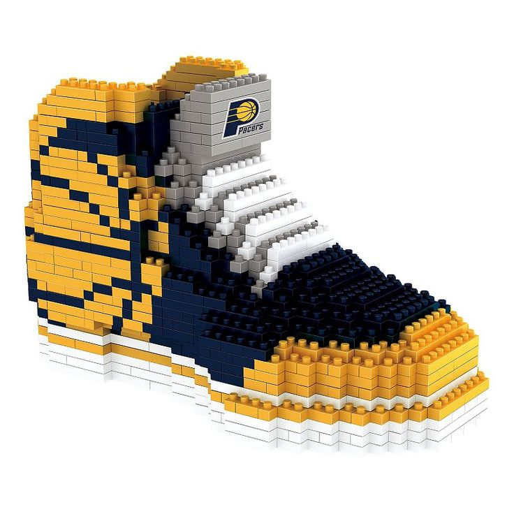 Forever Collectibles Indiana Pacers Brxlz 3D Sneaker Puzzle Set, Multicolor
