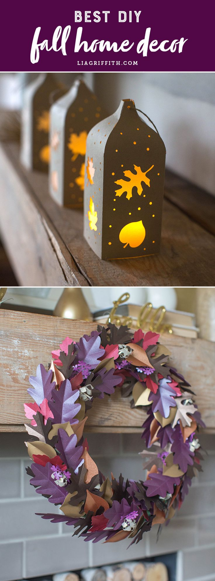 Our 10 Favorite Fall Decor DIYs - www.liagriffith.com #diyfalldecor #diyhomedecor #diyinspiration #diyproject #diyprojects #diyidea #diyideas #madewithlia