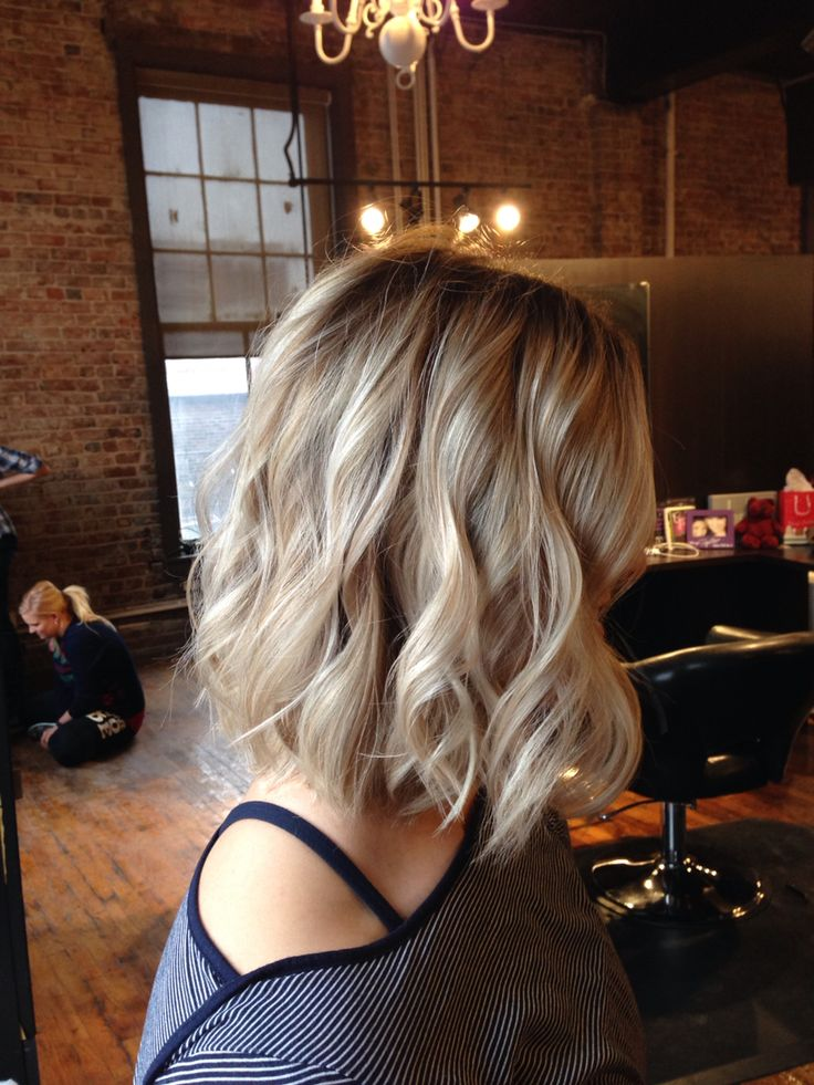 Long bob layered cut.  Shadow ash base with light blonde blayage. #stylistwhitneygrubbs #victorvictoriaomaha #blondehair