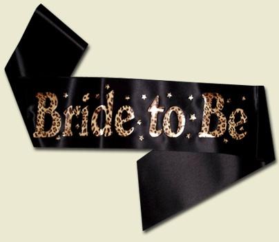 Bride to be Leopard Print Sash