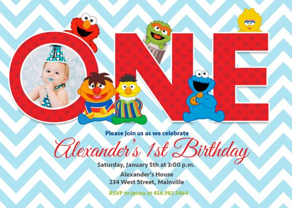 Baby Elmo Sesame Street First Birthday by PrettyPaperPixels