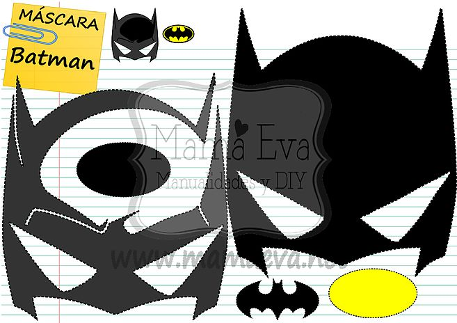 Descarga gratis nuestras plantillas para goma eva y fieltro de tus personajes favoritos: los Vengadores, Batman, Supermán, Spiderman, Wonderwoman...