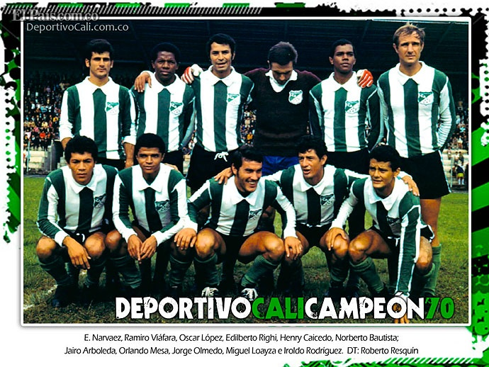 Deportivo Cali 100 Años - Campeon 1970