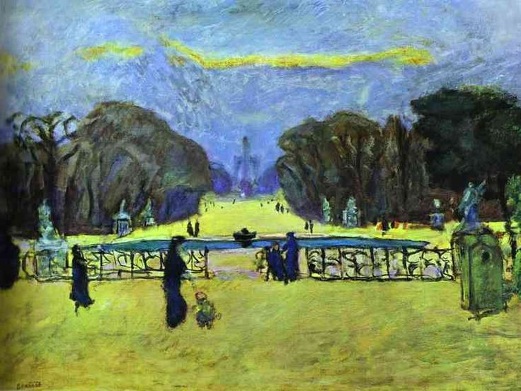 Pierre Bonnard, Garden of the Tuileries, 1912, oil on canvas, Private Collection
