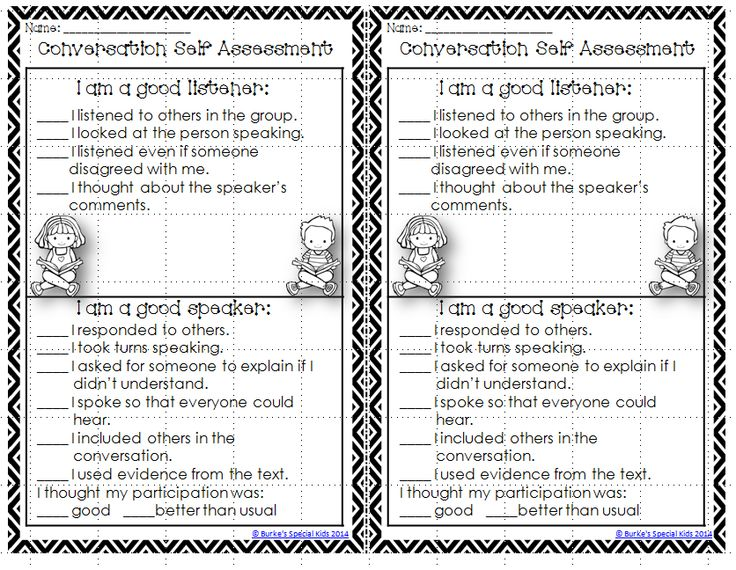 70 best Student Discourse images on Pinterest Teaching ideas - student self assessment