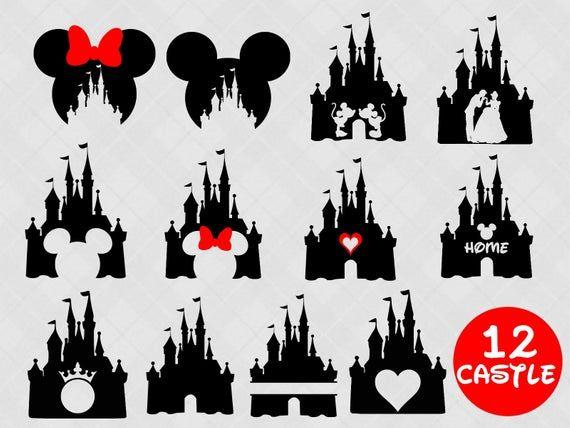 Cinderella Castle #Disney   Disney castle silhouette, Castle silhouette,  Disney silhouettes