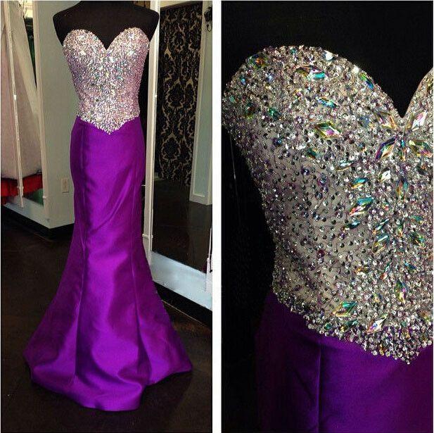 Purple Prom Dresses,Charming Prom Dresses,Sweetheart Prom Dress,Long Prom Dress, Mermaid Prom Dress,BD137