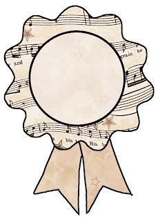 ArtbyJean - Vintage Sheet Music: Labels and text ribbons - Make it with this ready ...